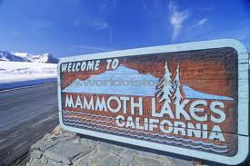 mammoth lakes sign